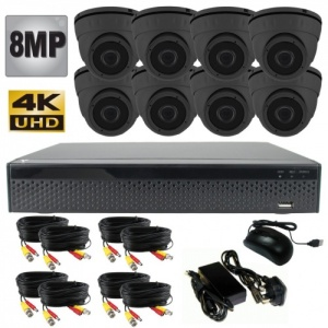 8Mp CCTV Camera Kit with 8 x Hd Night Vision dome cameras